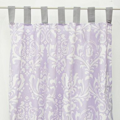 Lavender Sweet Lace Damask Curtain Panels Baby S Nursery