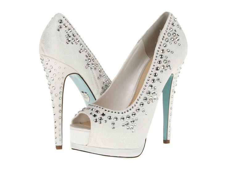 Betsey johnsonvow ivory fabric bridal shoes white