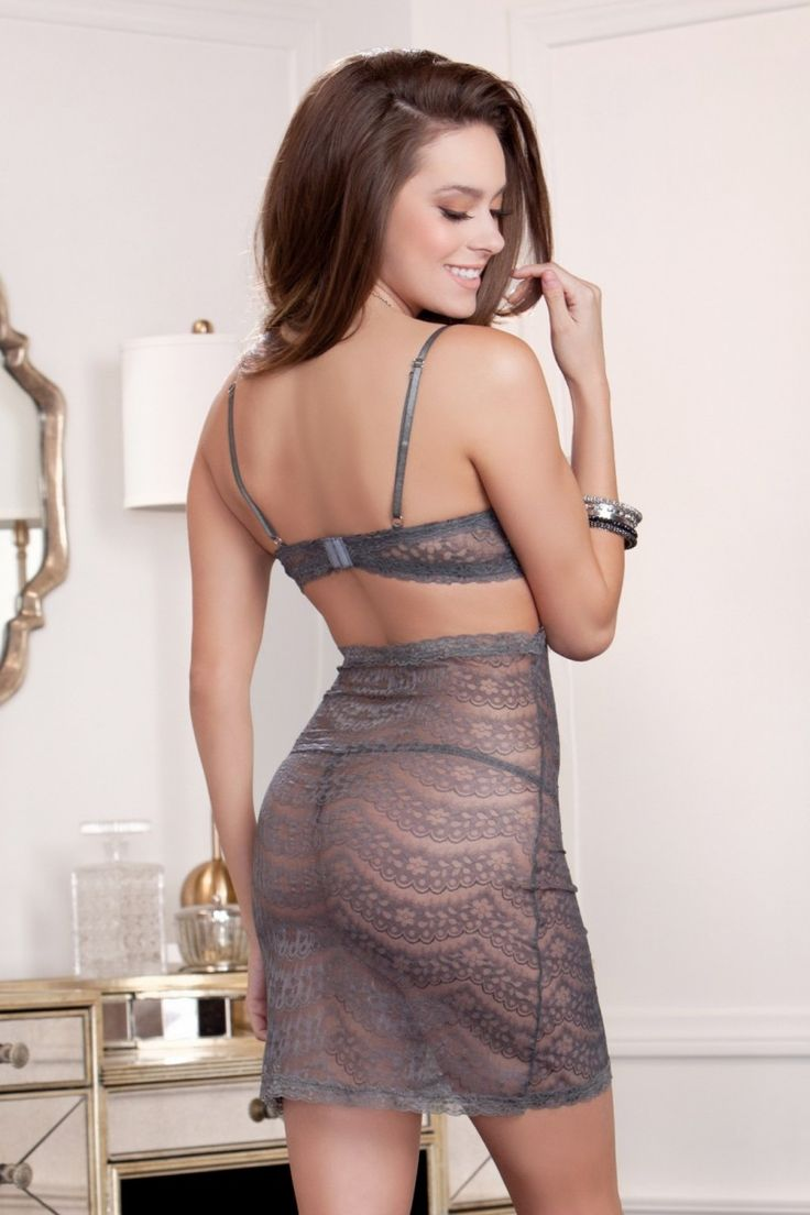 iCollection Cut Away Lace Chemise & G-String £32.95 #sexy #lingerie #dearsweetness #chemise