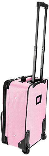 Amazon.com | Rockland Luggage 2 Piece Set, Black, Medium | Luggage Sets