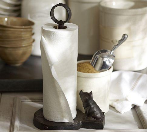 Vintage Blacksmith Pig Paper Towel Holder | Pottery Barn $44