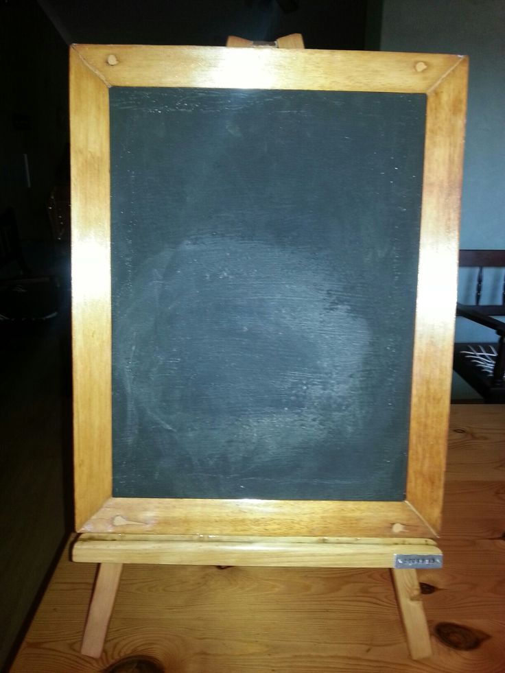 Hand made chalk board