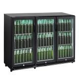CyberCool 330L Underbench Black Drinks Bar Fridge