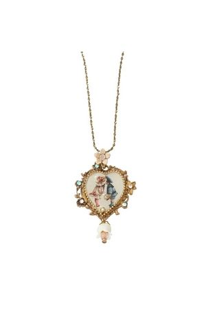 Cameo Heart Necklace 15101