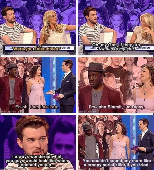 Lol Jack Whitehall & teletubbies