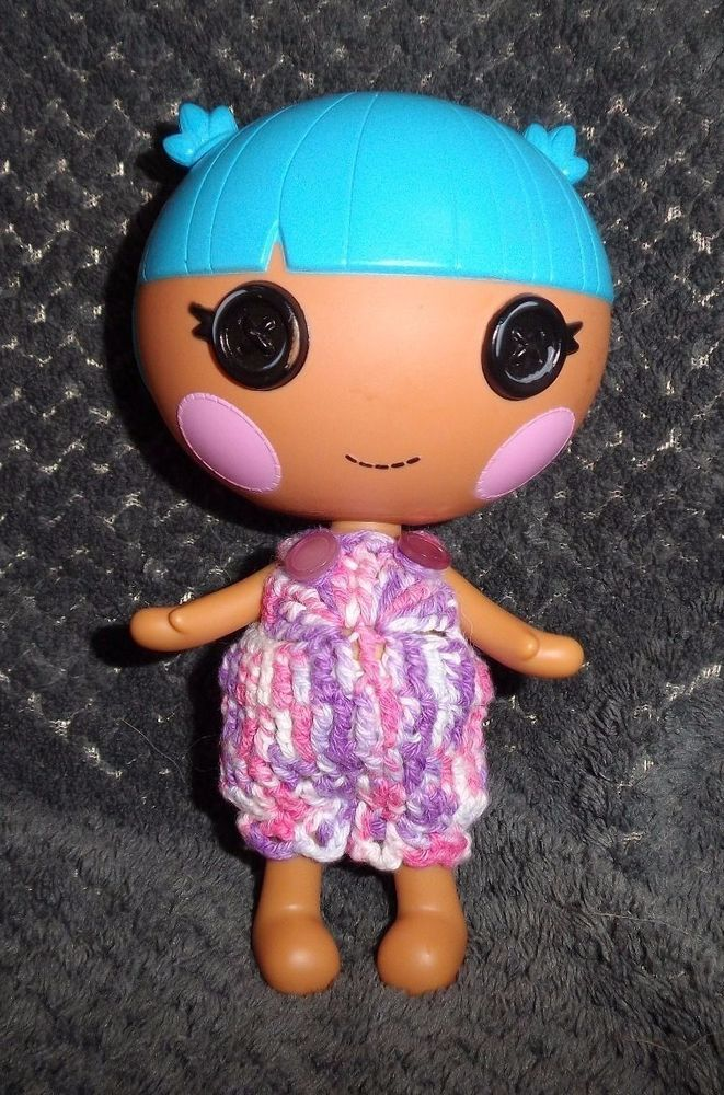 Lilac & pink variegated Romper Doll clothes to fit LalaLoopsy Little sister's