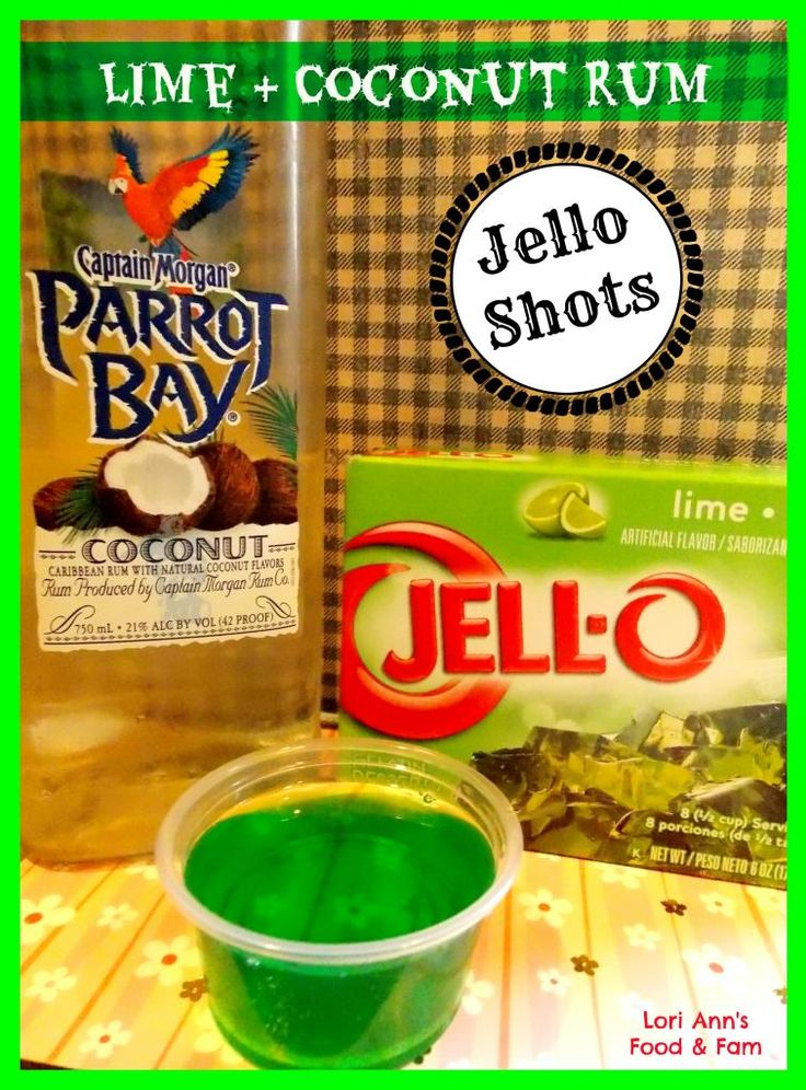 Coconut Rum and Lime Jello Shots