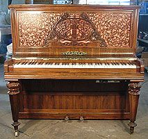 Antique, Collard & Collard Upright Piano For Sale with a PianoDisc GT-2 QuietTime System Fitted