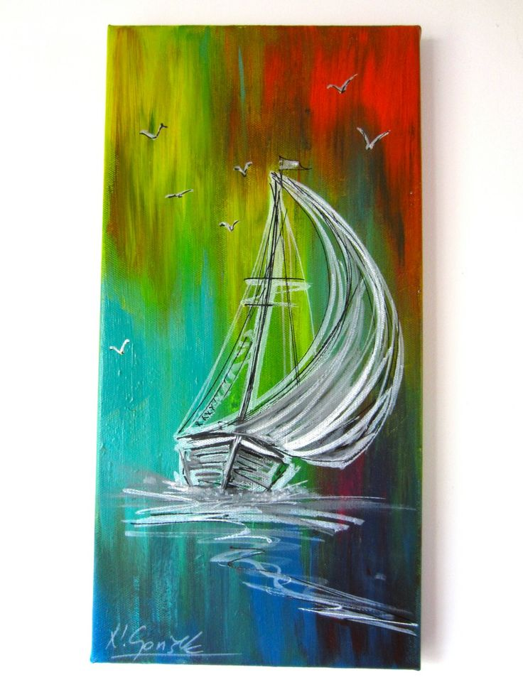 Sailboat painting by Nikolina Gorišek