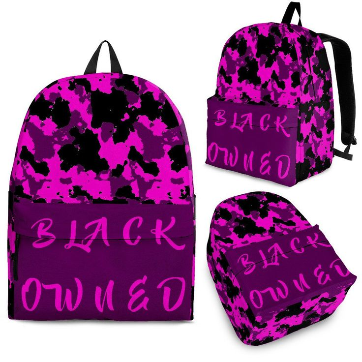 Black Owned Purple Camo Backpack