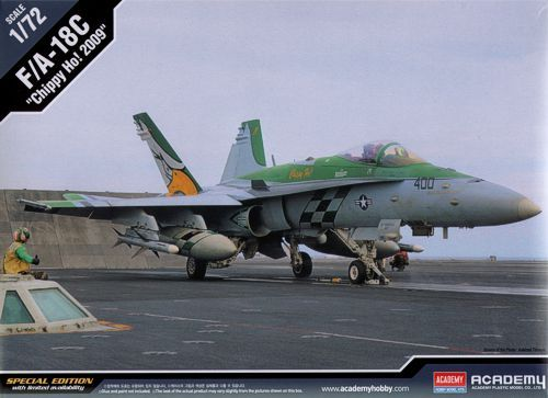 "McDonnell Douglas F/A-18C Hornet ""Chippy Ho! 2009"". Academy, 1/72, injection, No.12432. Price: 19,80 GBP."
