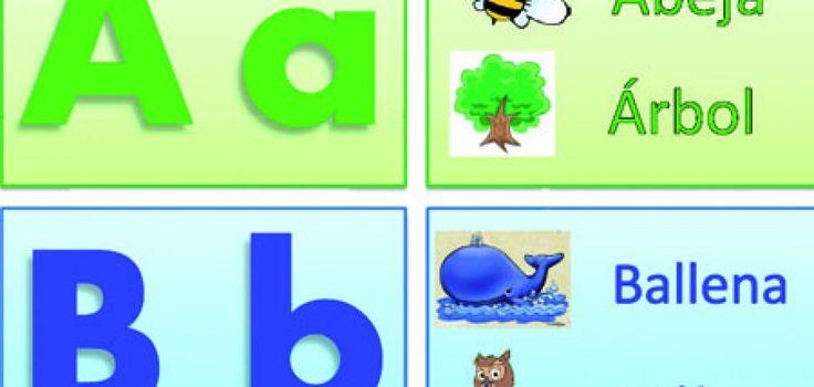 """free printable Spanish alphabet cards- click on """"para descargar las tarjetas del abecedario en formato PDF hacer clic aqui"""""""