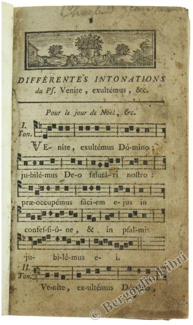 PLEIN CHANT (PLAIN CHANT). 1750 - Bergoglio Libri d'Epoca