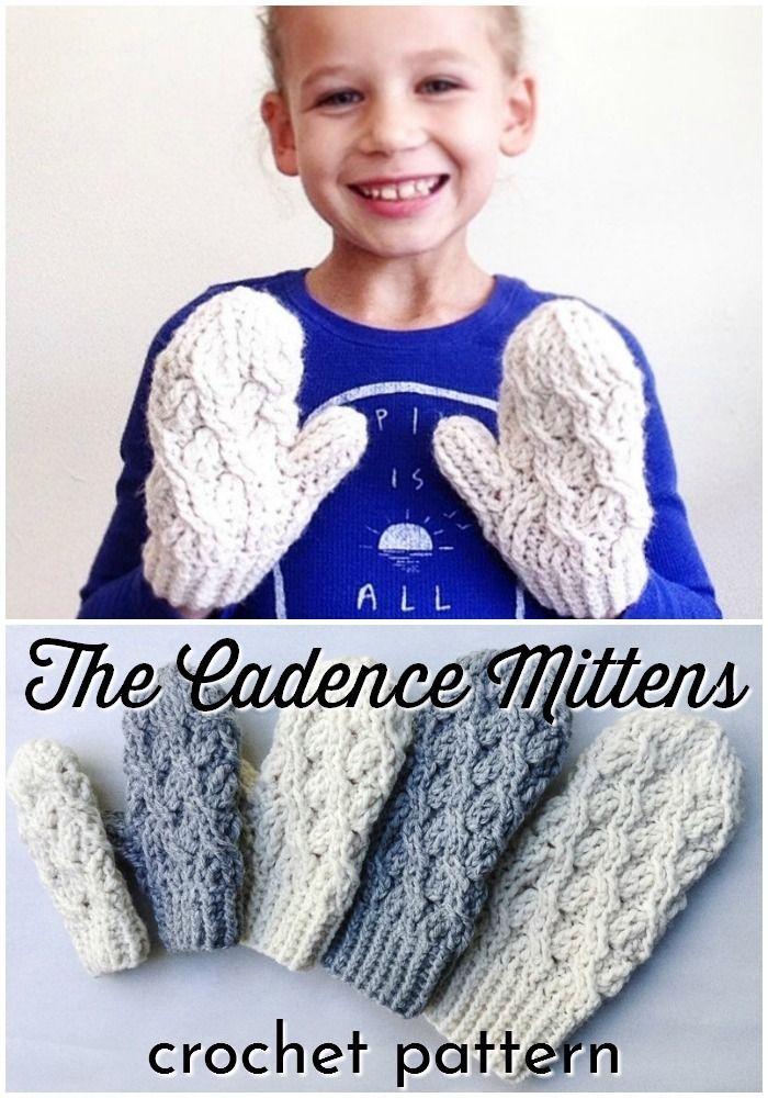 Warm Winter Weather Wear In 2020 Crochet Mittens Pattern Mittens Pattern Crochet Cable