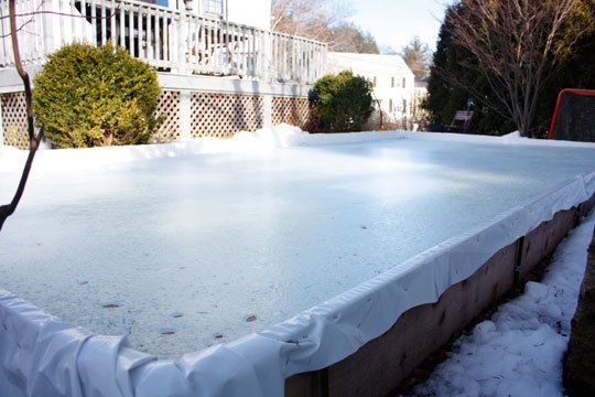 how to build an ice rink in your yard backyard ice rink home hacks