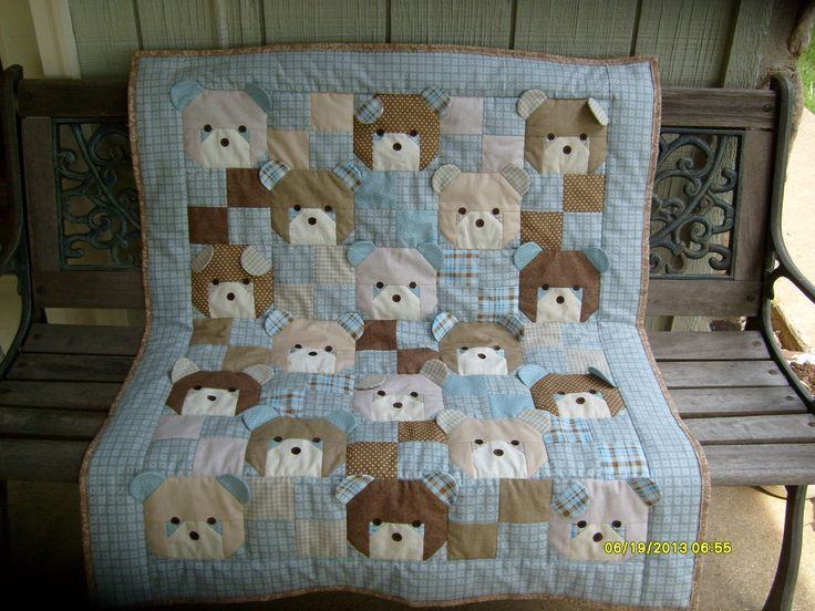 The bear quilt I made!
