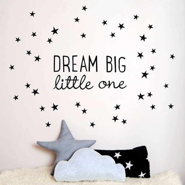 Inspire your little ones to dream big with our fabric wall sticker.The set contains the quotation plus 50 little stars and is available in either black or white. The stickers are easily applied - just peel and stick - and are made of fabric adhesive so they can be removed, repositioned and reapplied over and over. They are free from vinyl, PVC, BPA and phthalates so make a great choice for nurseries and kids' rooms.Polyester and Cotton Fabric AdhesiveSee 3rd image for dimensions.