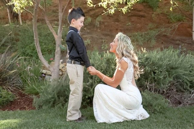 bride and son photos