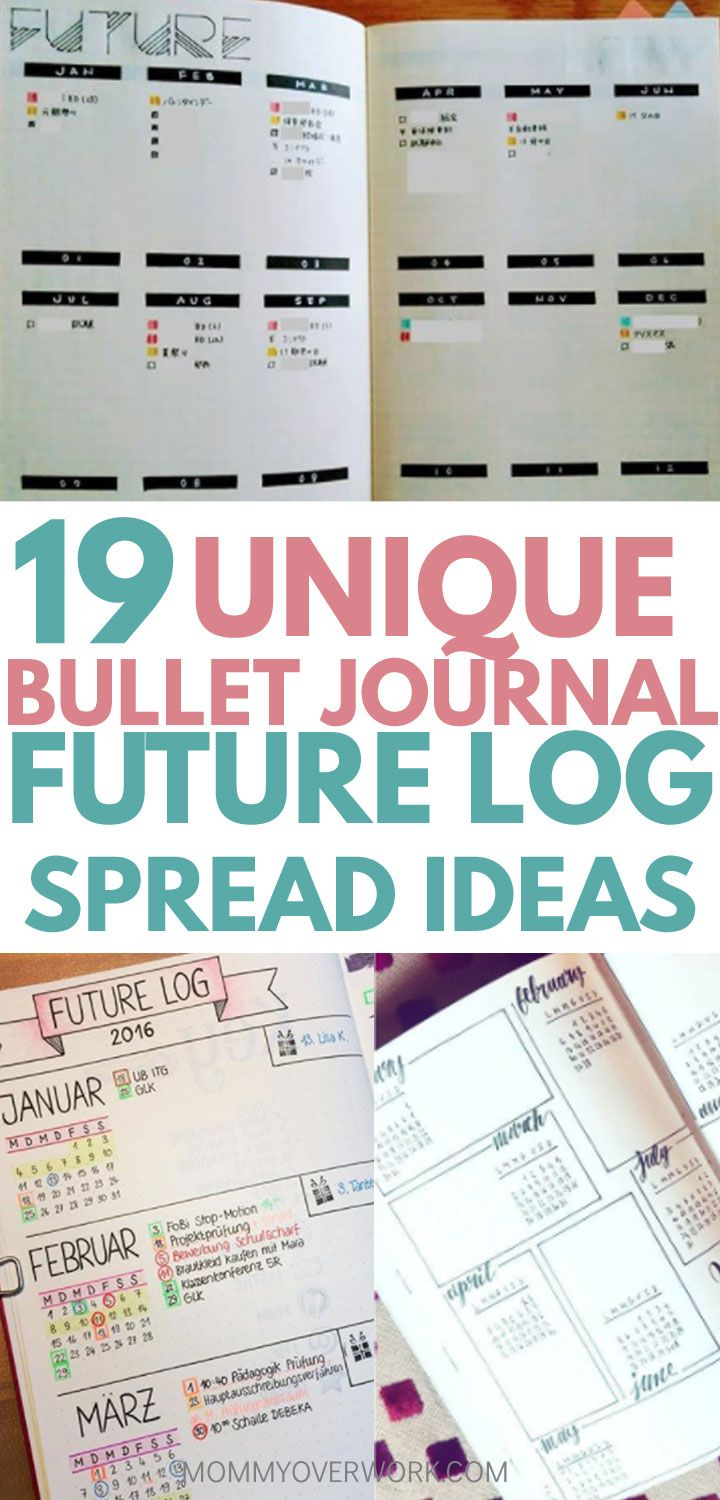 19 BRILLIANT Bullet Journal Future Log Ideas to Get You Ahead
