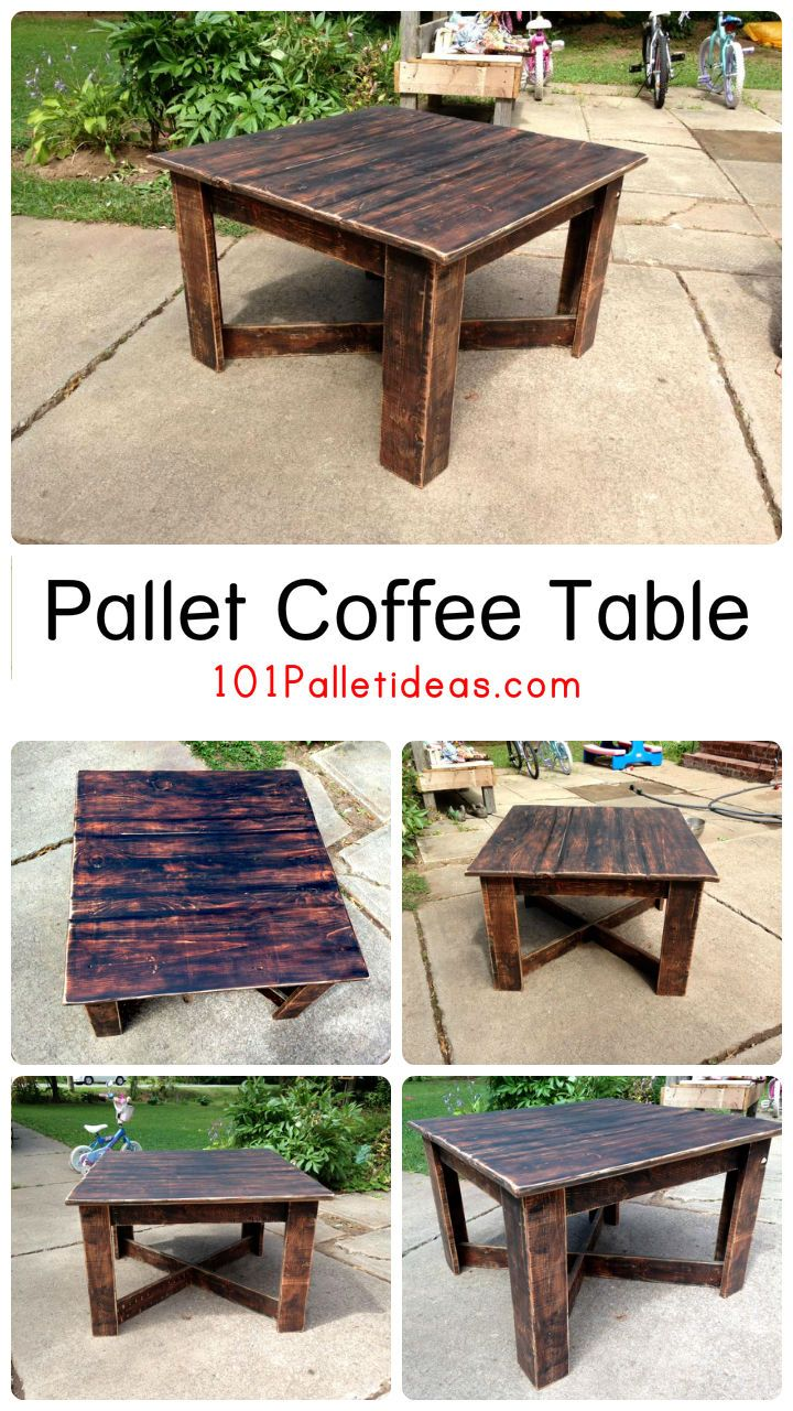 1000 ideas about wood pallet coffee table on pinterest. Black Bedroom Furniture Sets. Home Design Ideas