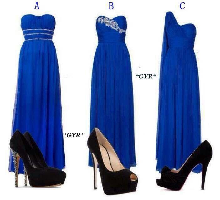 outfit vestidos azul electrico