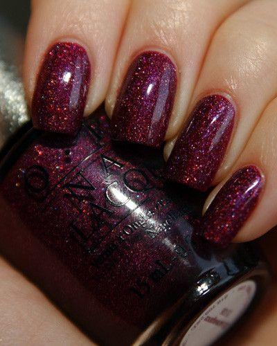 Glitter Wine Nail Polish - OPI purple+glitter= AMAZE BALLS