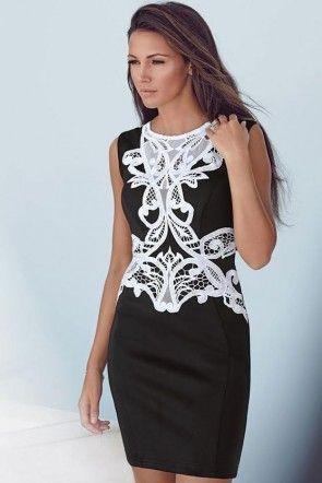 Michelle Keegan Aplique Bodycon Dress