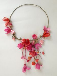 Colorful flower necklace