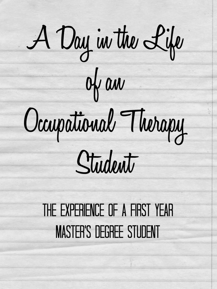 OT Cafe: A Day in the Life of an Occupational Therapy Student #OTMonth