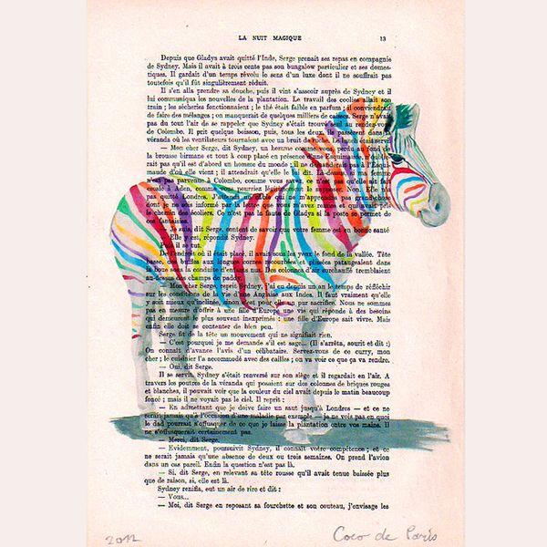 Regenbogen Zebra von Coco De Paris auf DaWanda.com