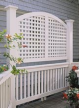Curved Privacy Screen Sometimes the best location for a deck or patio also puts you in the direct line of vision from a neighbor's window.