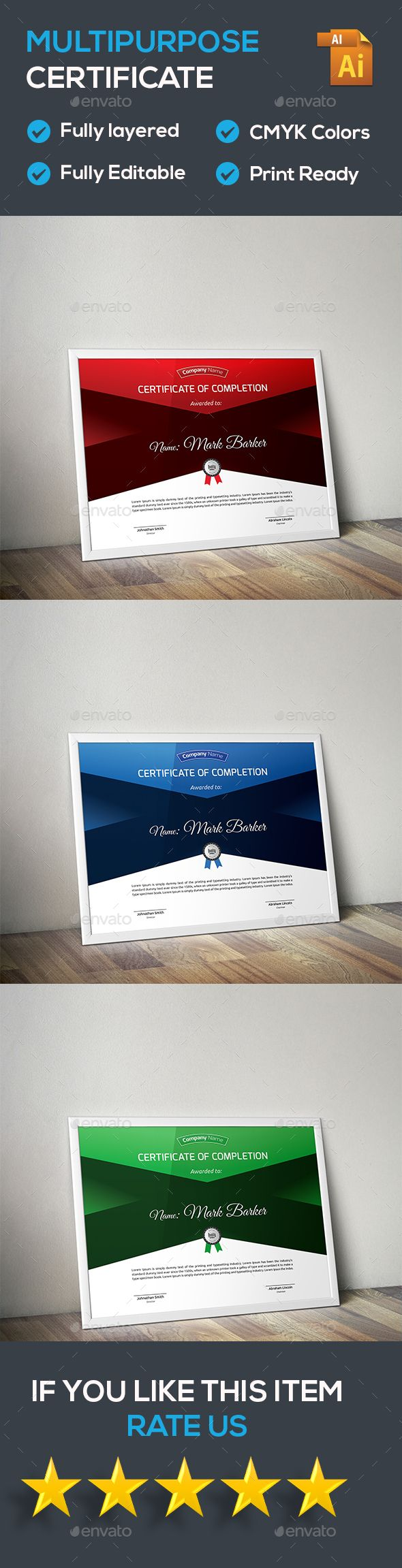 Certificate Template Vector EPS. Download here: http://graphicriver.net/item/certificate/15853630?ref=ksioks