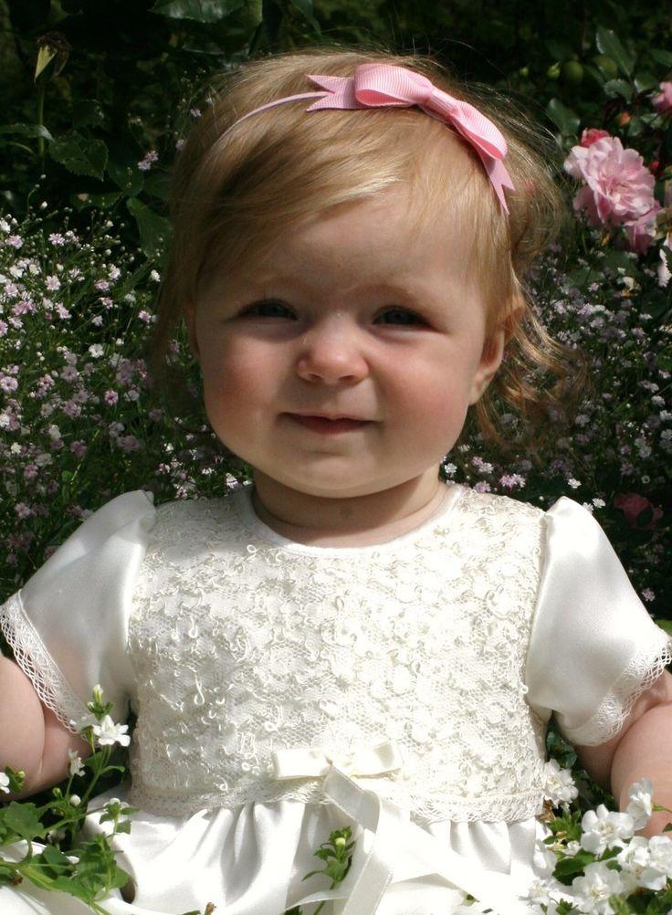 söt dopklänning för flickor, dåpskjole til jenter, christening gown for girls