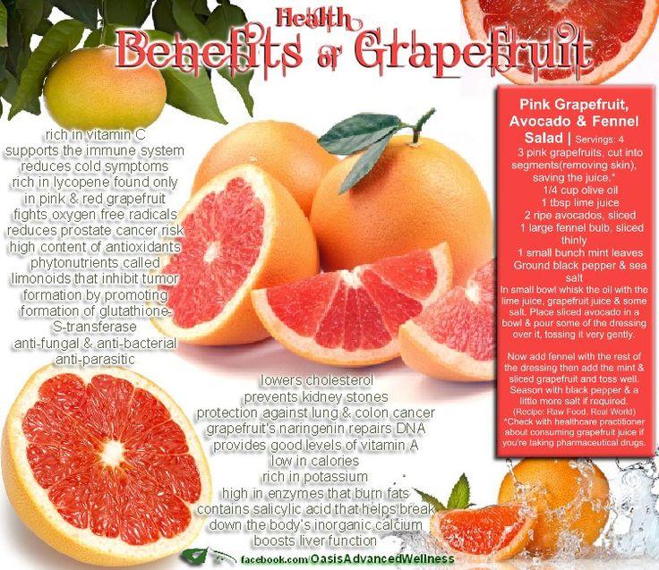 Grapefruit benefits  Found on E3Live_KlamathFalls_Oregon shared Oasis Advanced Wellness's photo. on Facebook