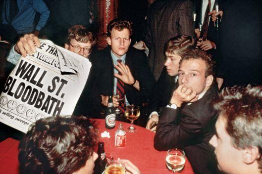 After the Black Monday Crash, 1987.