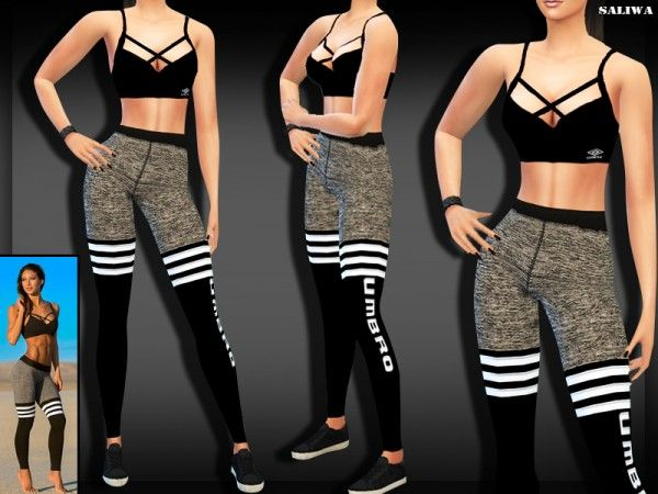 The Sims Resource: Fitness Outfit by Saliwa • Sims 4 Downloads