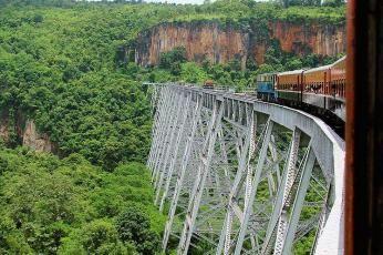 Gokhtiek viadukt, Burma