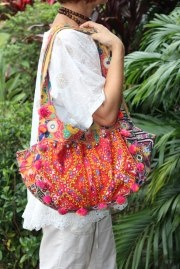 Indulge your individuality by carrying one of these unique LALOOM Banjara handbags
