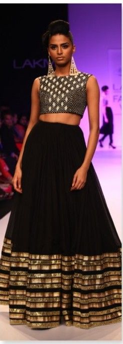 Lehenga Skirt with crop top