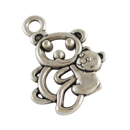 25pcs--Koala, Antique Silver, 14X19mm