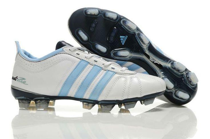 Tienda de Adidas Adipure Iv Trx Fg Zapatos De Fútbol Negro Blanco Azul jiu-Personalizar Botas de Futbol
