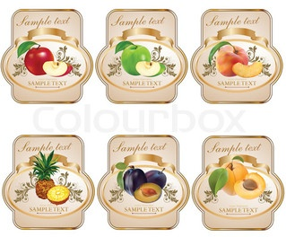 Vector of food, clipart, vintage