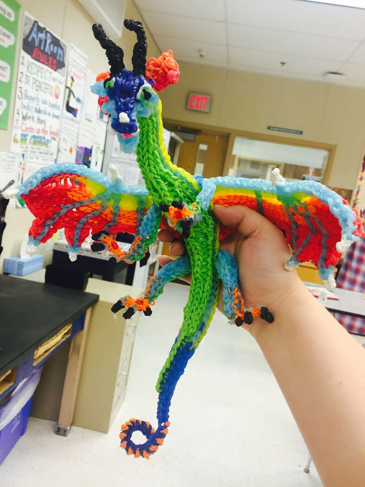 Glory from Wings of Fire,  I followed the videos by CortneyNicole from How to Loom Your Dragon!!!