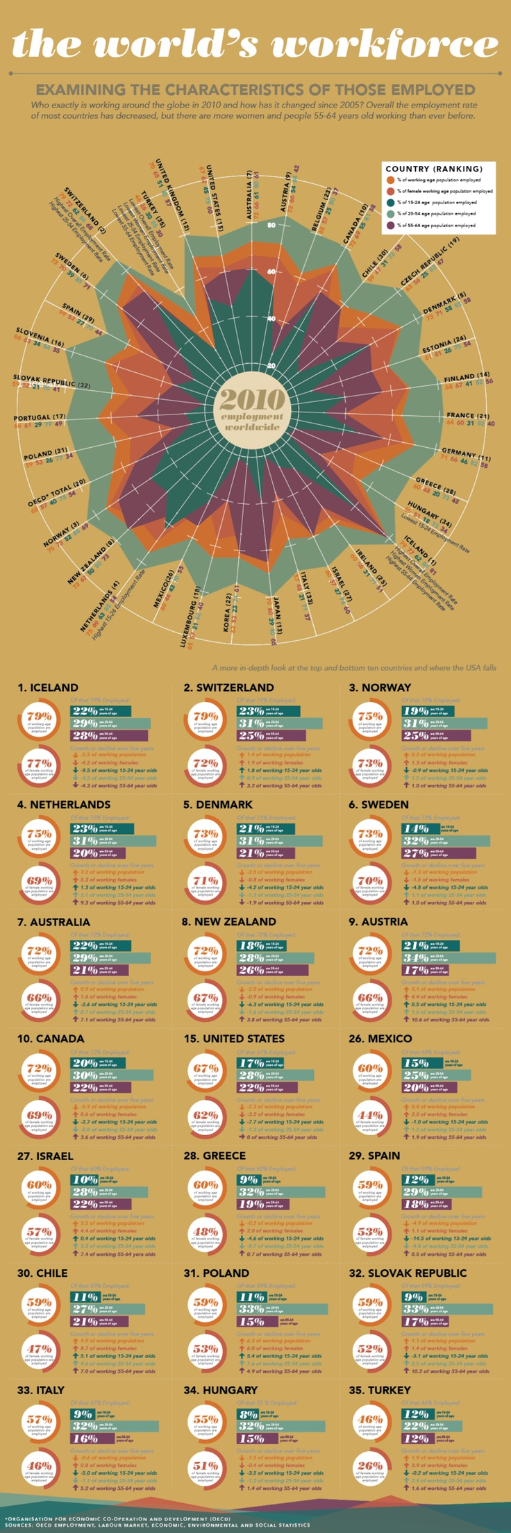 The World's Workforce [infographic] Infographic, Graphic