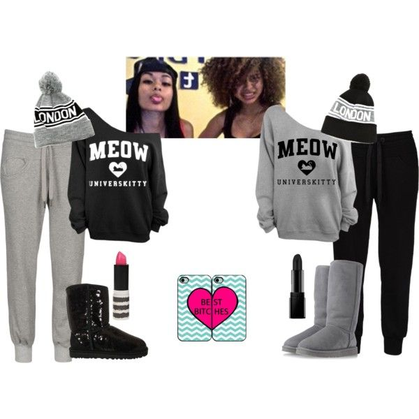 Twin Day with ya Sista   by trulyhonest on Polyvore. 23 best Twin day images on Pinterest   Twin day  Best friends and