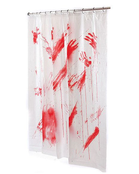 Bloody Shower Curtain All Hallow 39 S Eve Pinterest Zombie Party And
