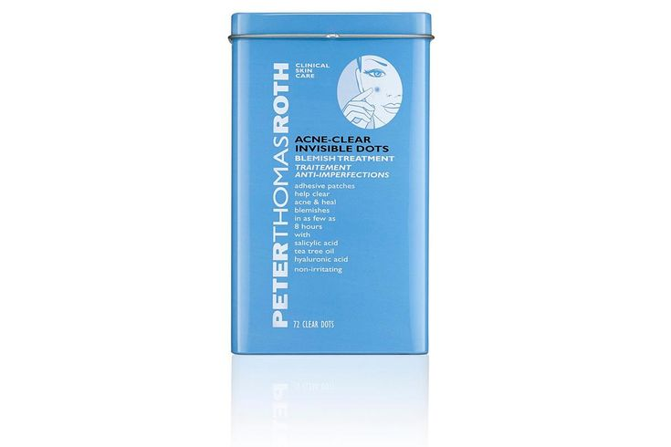 Peter Thomas Roth Acne-Clear Invisible Dots, $30/72 patches, available at Sephora: These medicated patches contain salicylic acid, tea tree oil, and the humectant hyaluronic acid, which helps to keep skin under the patch moist and prevent dry skin. .