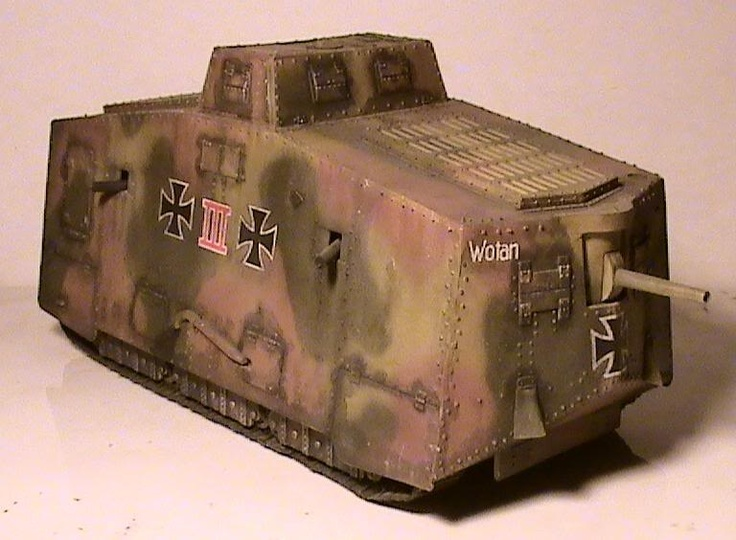 Ww1 German heavy tank built after 1917 in response to the British tanks