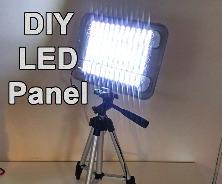 diy powerful led panel video and work light photography tips pinterest work lights. Black Bedroom Furniture Sets. Home Design Ideas