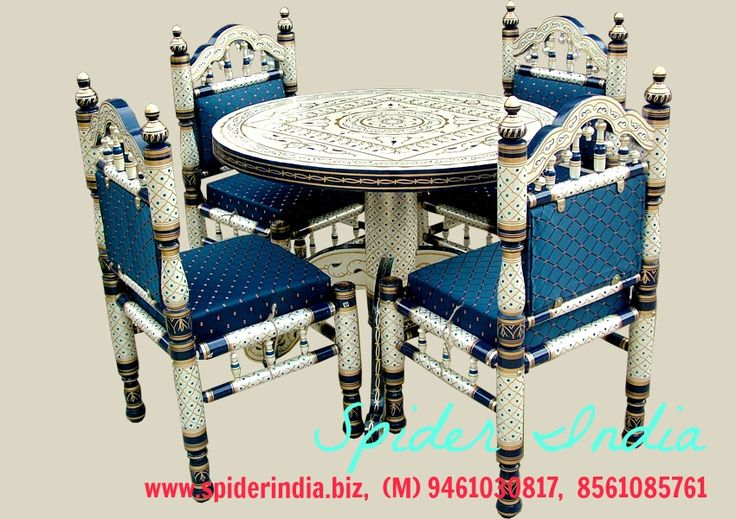 sankheda round dining table, sankheda chair, painted dining set, tradition dining set folk dining dining set